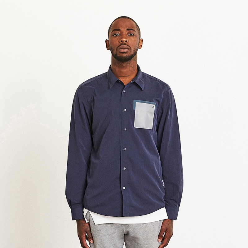 LOGO POCKET SHIRT JACKET