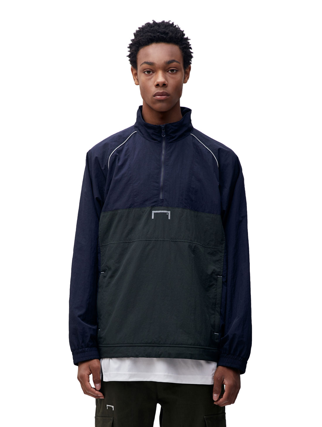 COLOR BLOCK ANORAK - DARK NAVY
