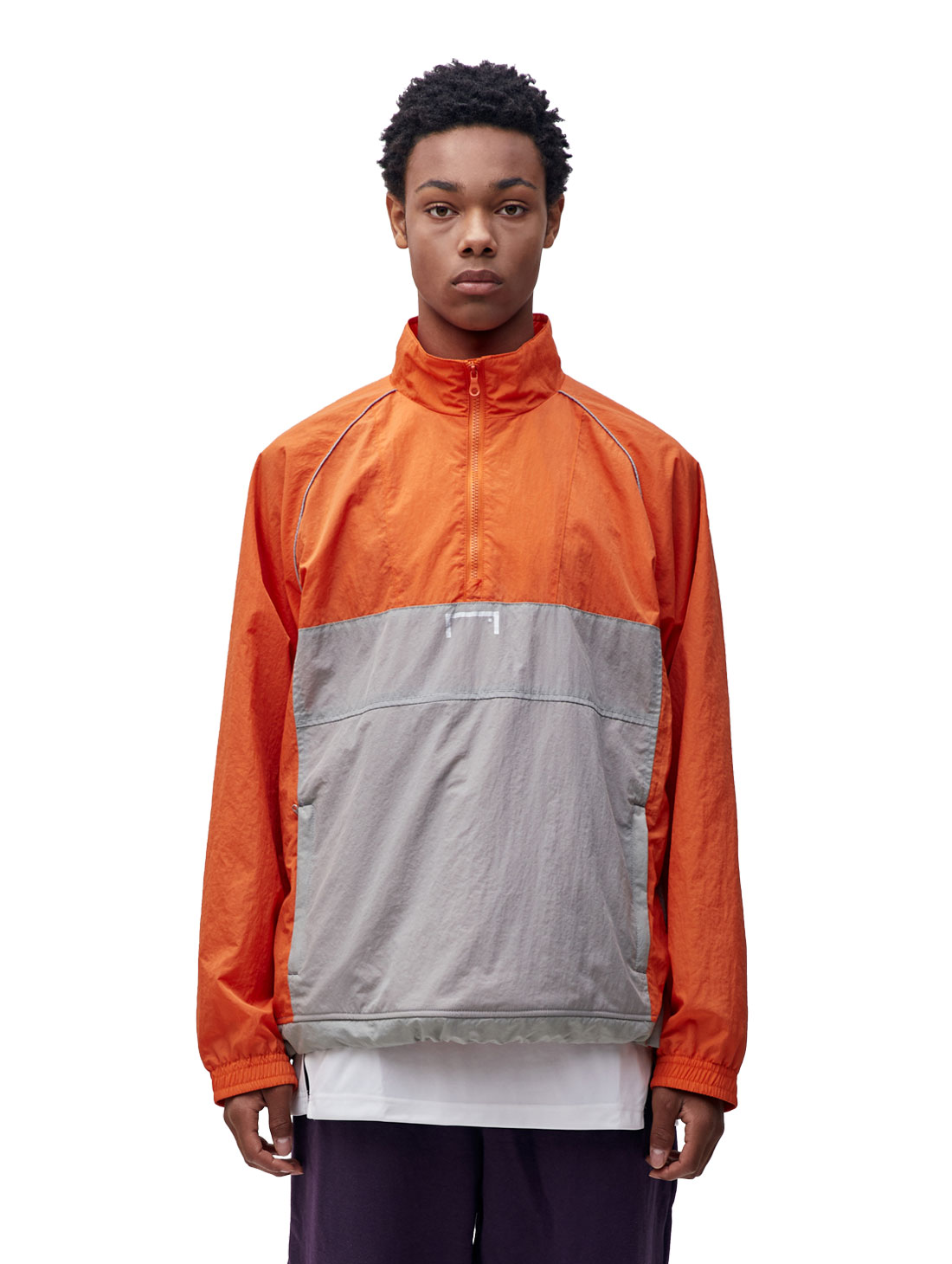 COLOR BLOCK ANORAK - ORANGE