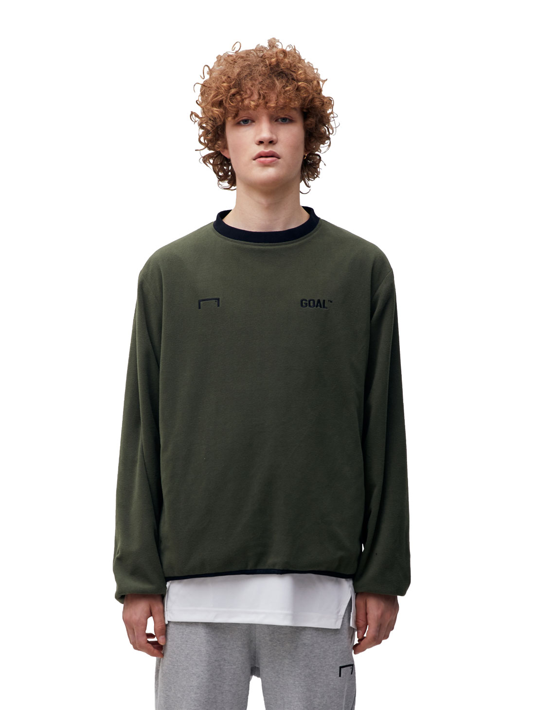 (Sold Out) REVERSIBLE PULLOVER - KHAKI/BLACK