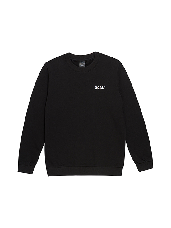 (KIDS) BACK LOGO SWEATSHIRTS - BLACK