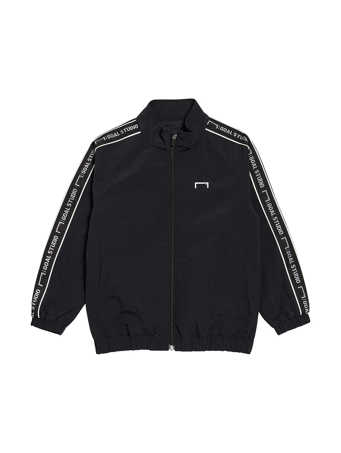 (KIDS) SMALL LOGO TRACK JACKET - BLACK