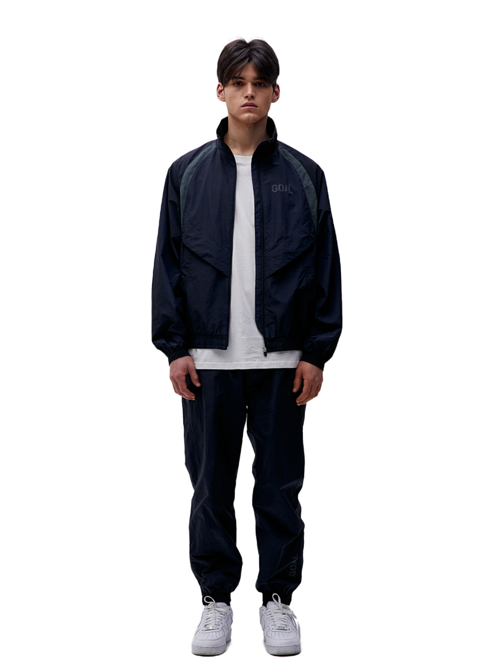 [10% OFF] WARMUP JACKET & PANTS SET - NAVY