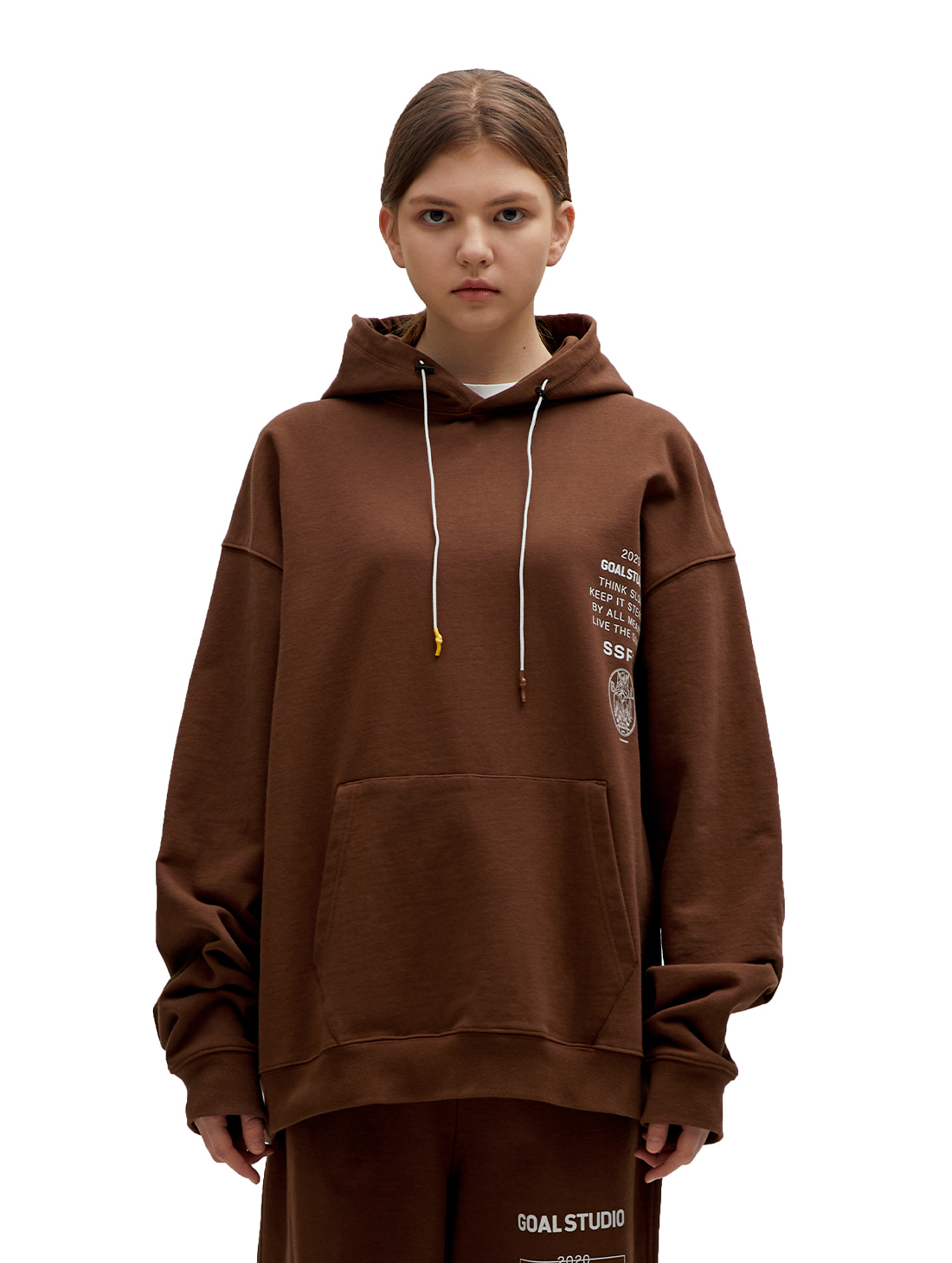 SSFC JERSEY HOODED SWEATSHIRT - BROWN