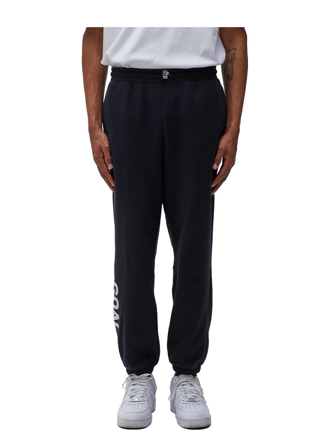 (Sold Out) FLOCKING KNIT JOGGER PANTS - BLACK