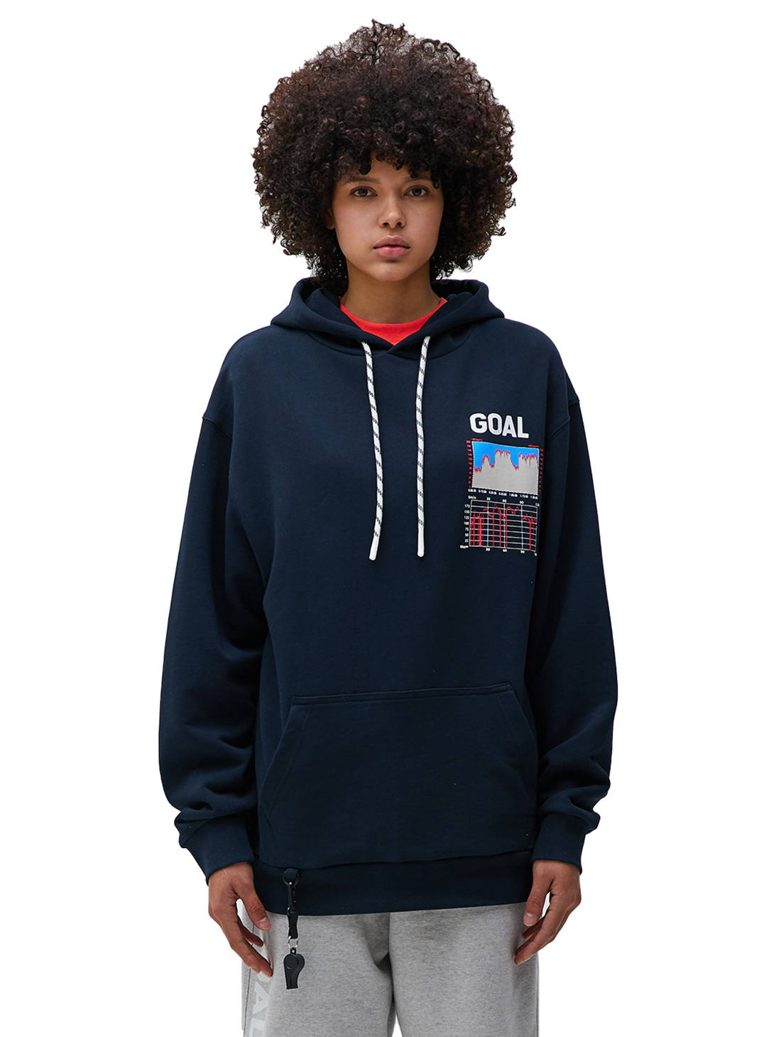 (Sold Out)PULSE GRAPHIC HOODIE - NAVY
