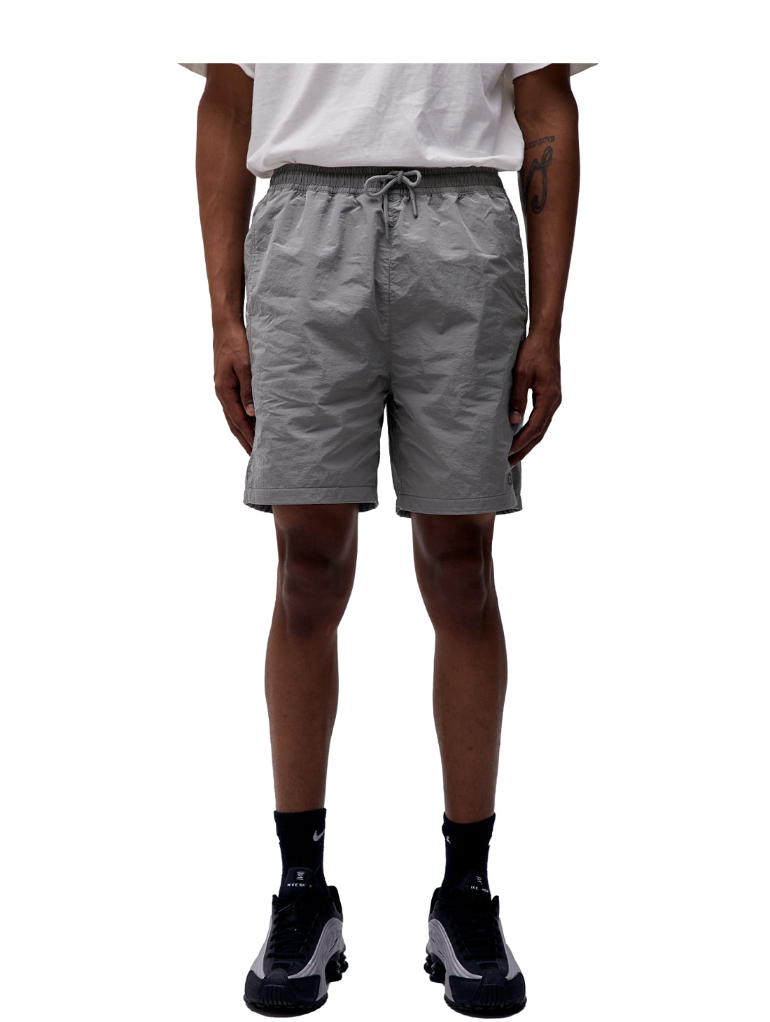SOLID SHORTS - GREY