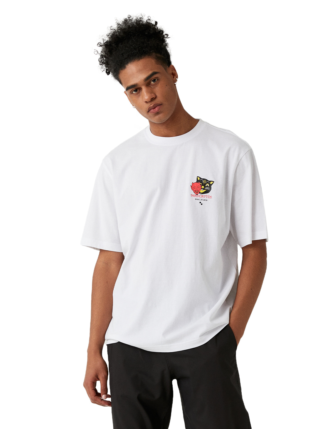 MC MASK GRAPHIC TEE - WHITE