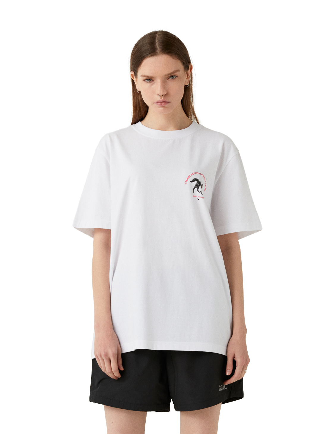 MC SMALL FRONT GRAPHIC TEE - WHITE