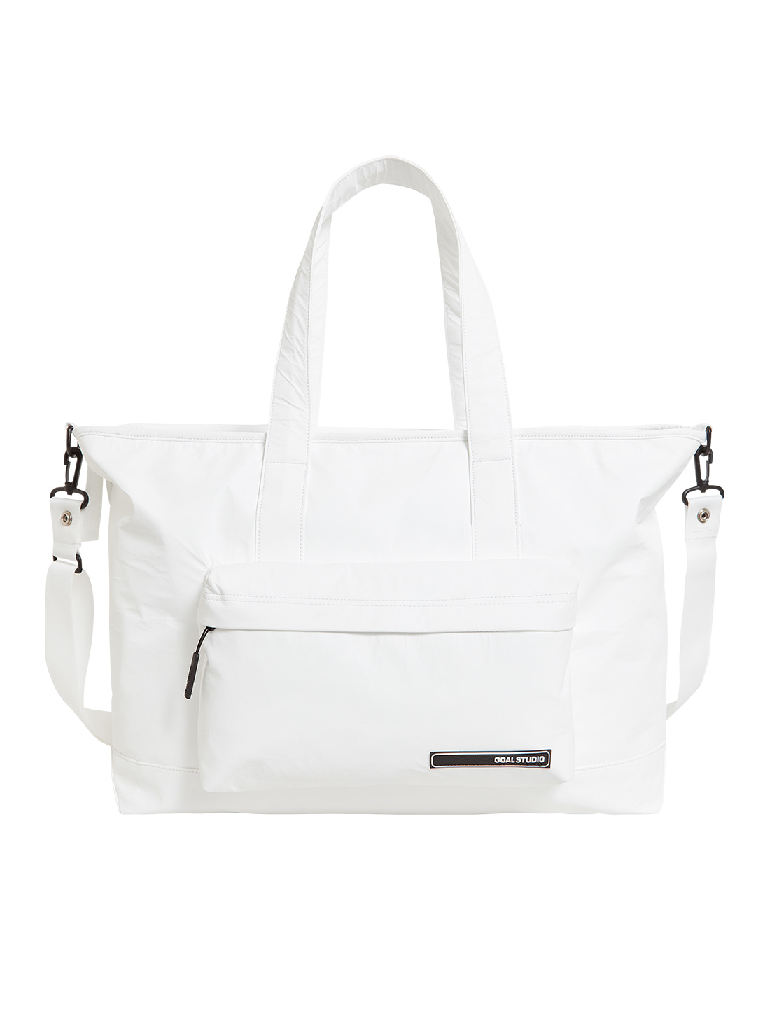 LOGO WAPPEN TOTE BAG - WHITE