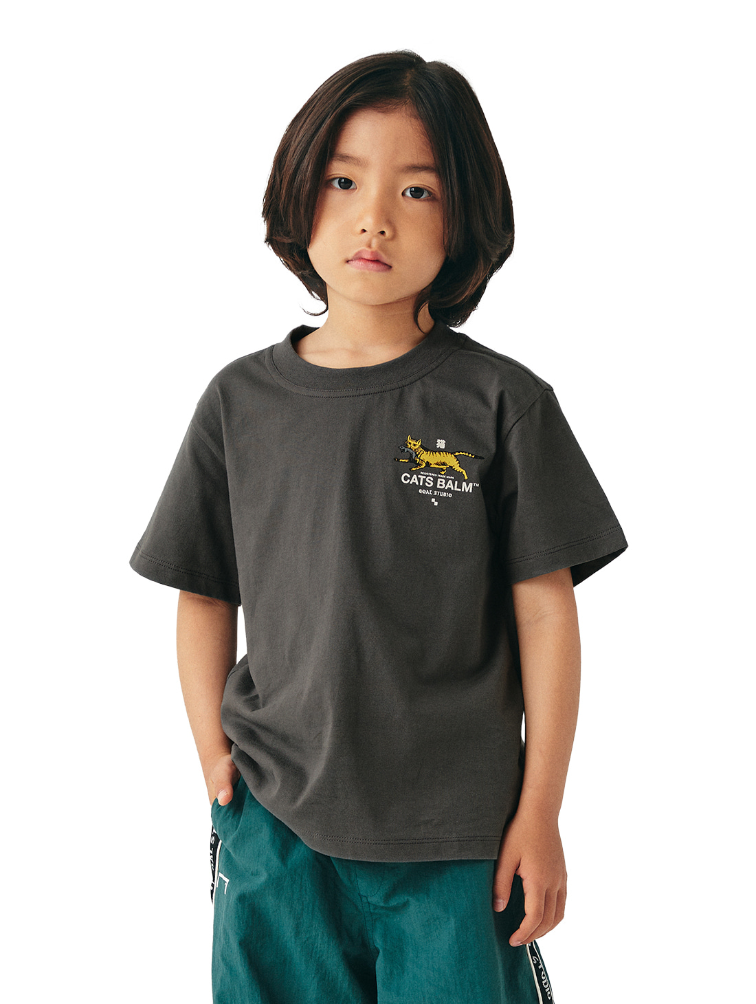 (KIDS) MC BALM GRAPHIC TEE - DARK GREY