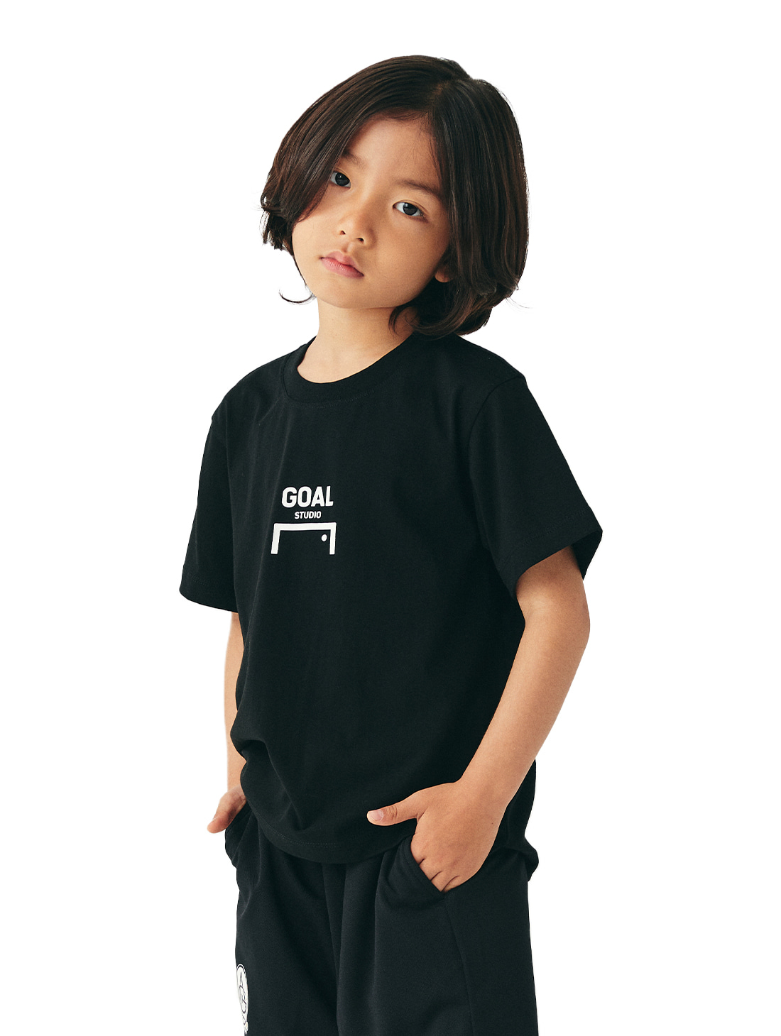 (KIDS) COMPOSITE LOGO TEE - BLACK
