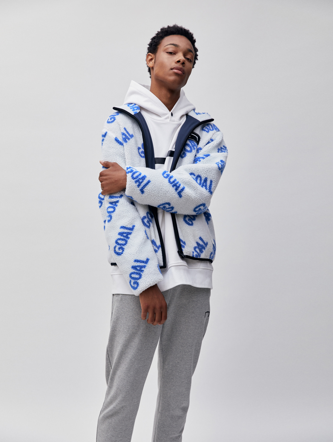 REVERSIBLE FLEECE JACKET - WHITE/NAVY - 1차 완판(2차 입고 완료)