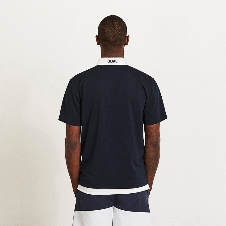 CONTRAST TRIMMED POLO SHIRT