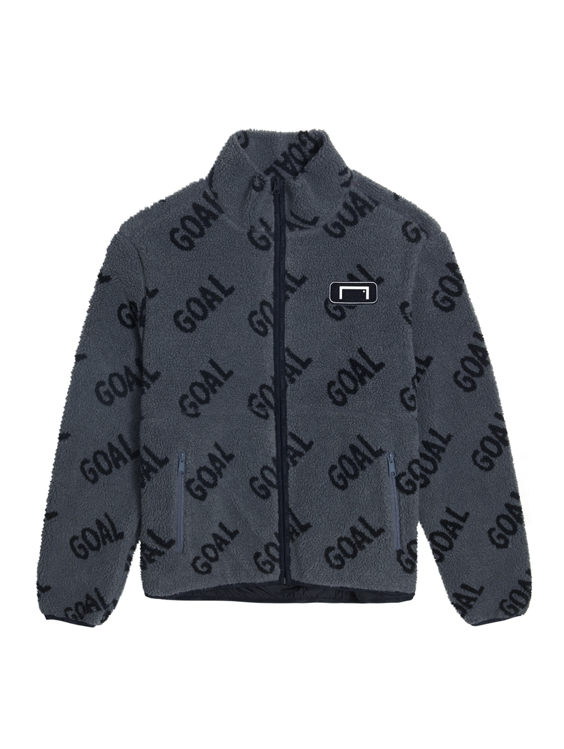 REVERSIBLE FLEECE JACKET - GRAY/BLACK