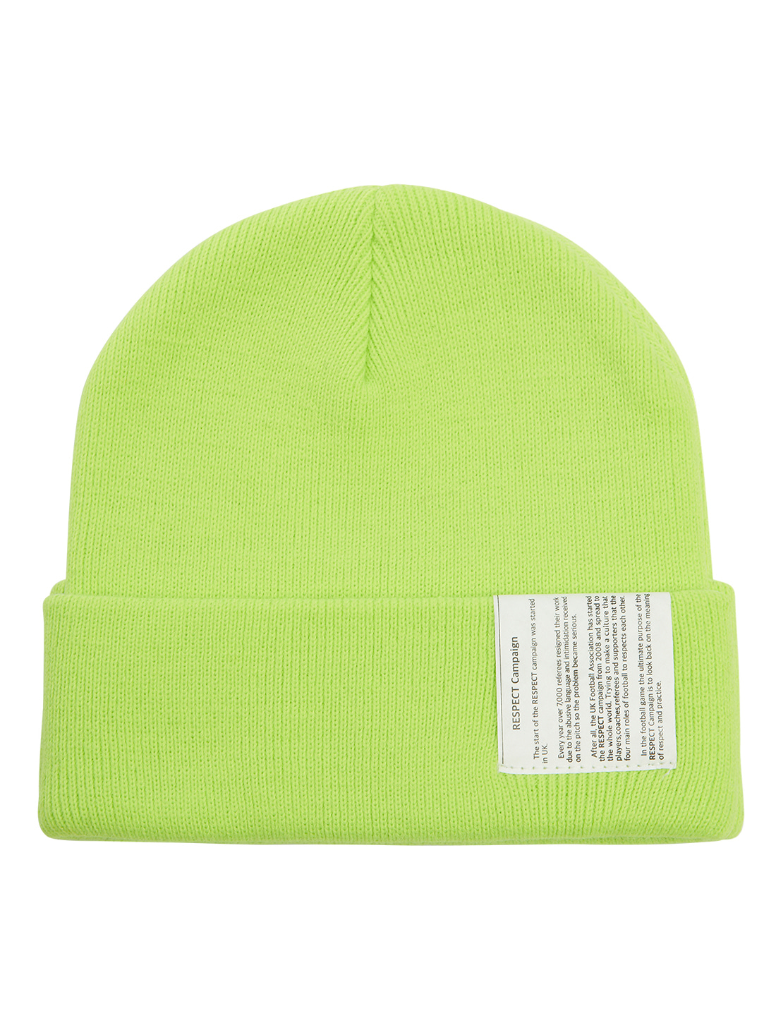 RESPECT LABEL BEANIE - LIME