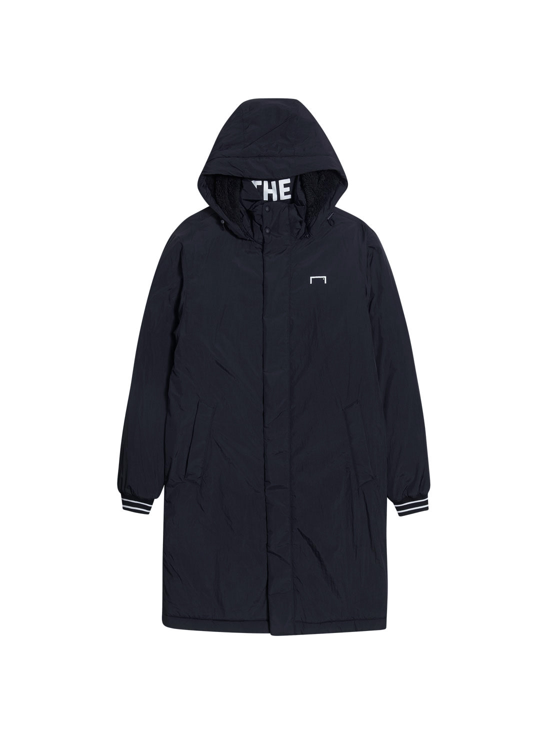 BIG LOGO LONG PARKA - BLACK