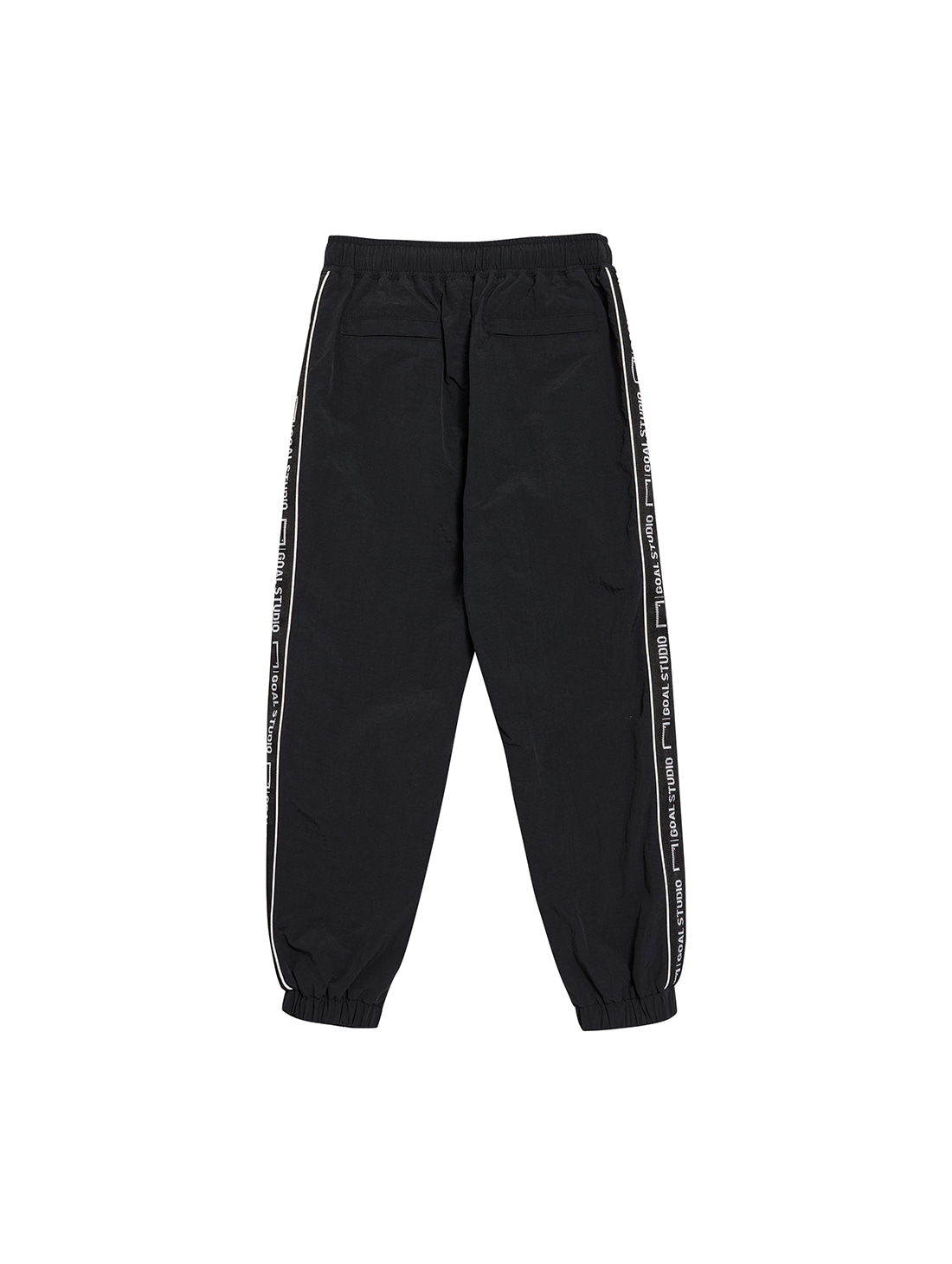 (KIDS) SMALL LOGO TRACK PANTS - BLACK
