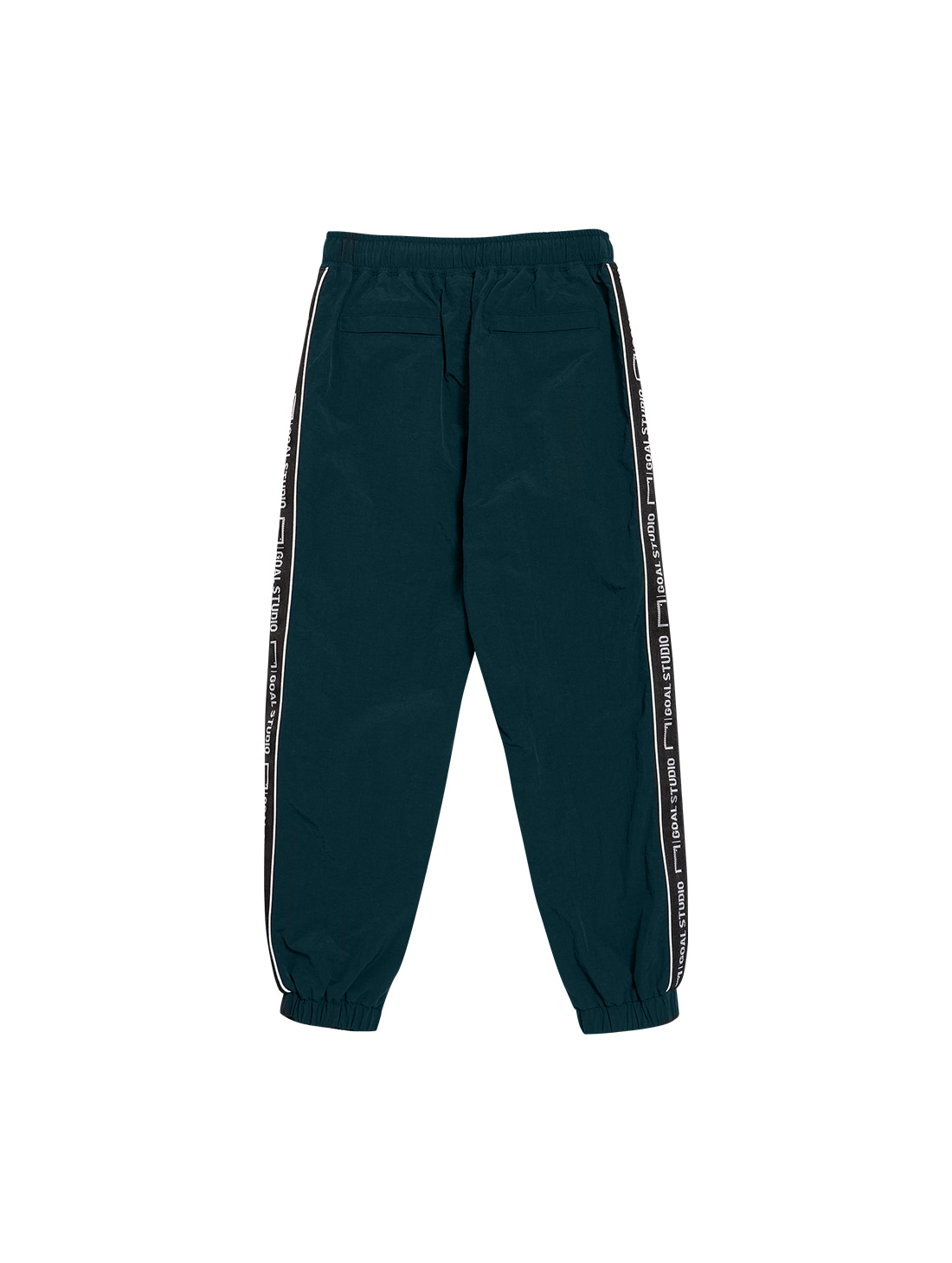 (KIDS) SMALL LOGO TRACK PANTS - DARK GREEN