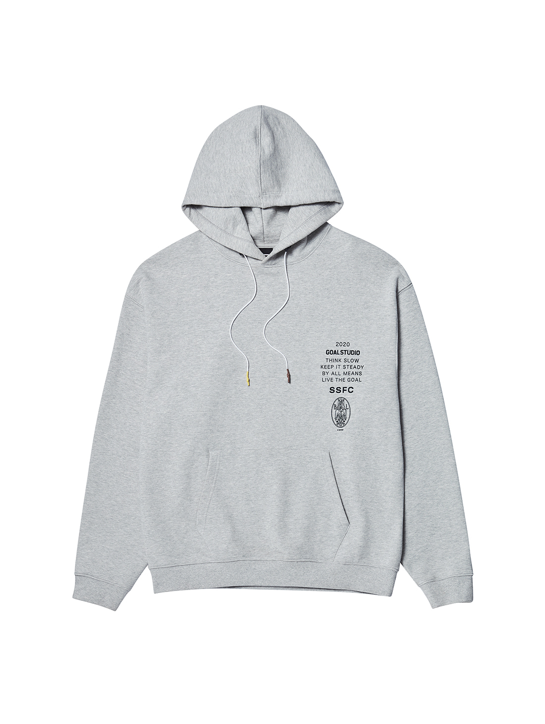 SSFC JERSEY HOODED SWEATSHIRT - GREY