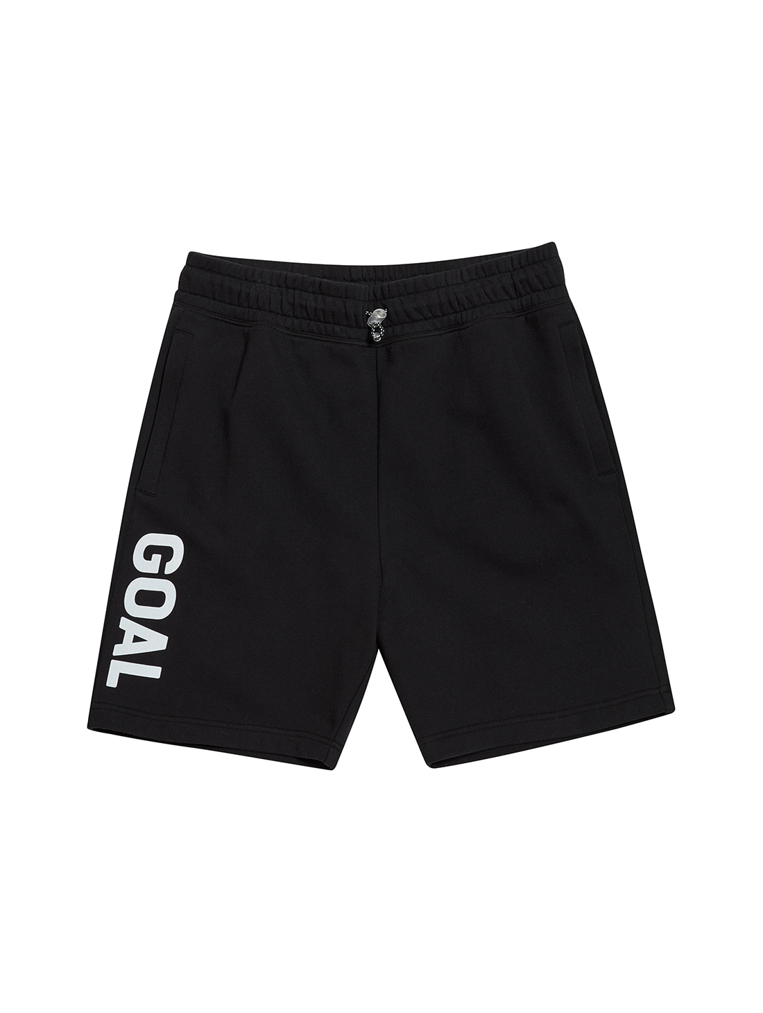 FLOCKING HALF PANTS - BLACK