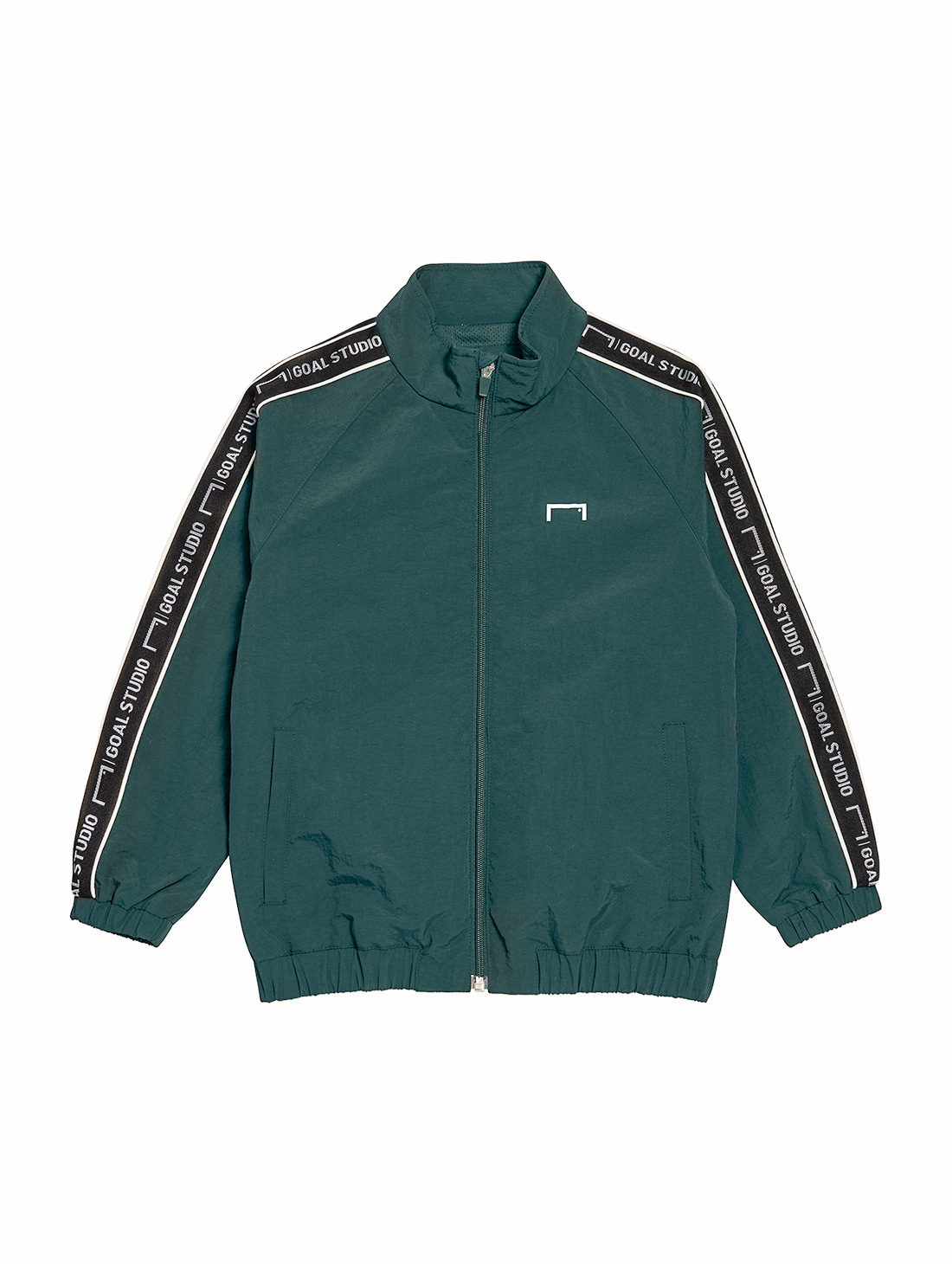 (KIDS) SMALL LOGO TRACK JACKET - DARK GREEN