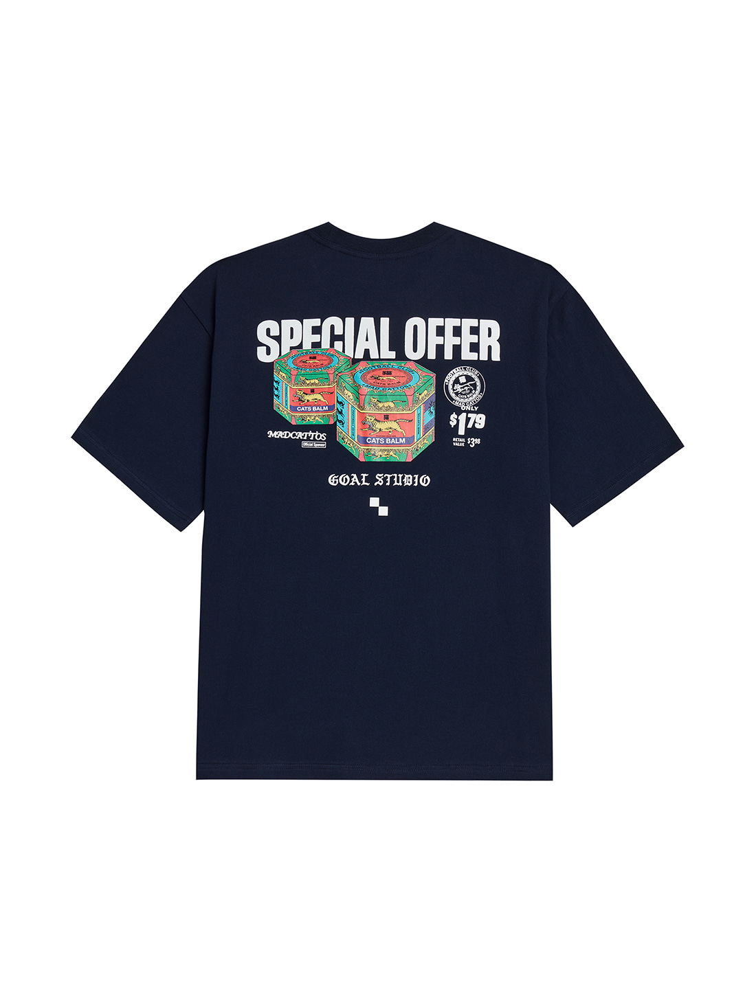 MC BALM GRAPHIC TEE - NAVY