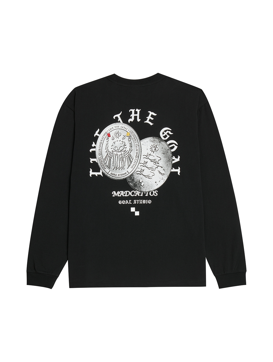 MC COIN GRAPHIC LONG SLEEVE TEE - BLACK