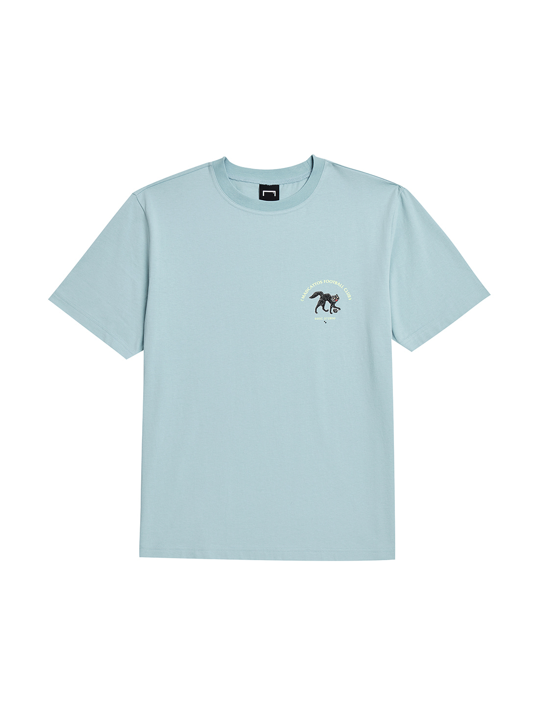 MC SMALL FRONT GRAPHIC TEE - LIGHT BLUE