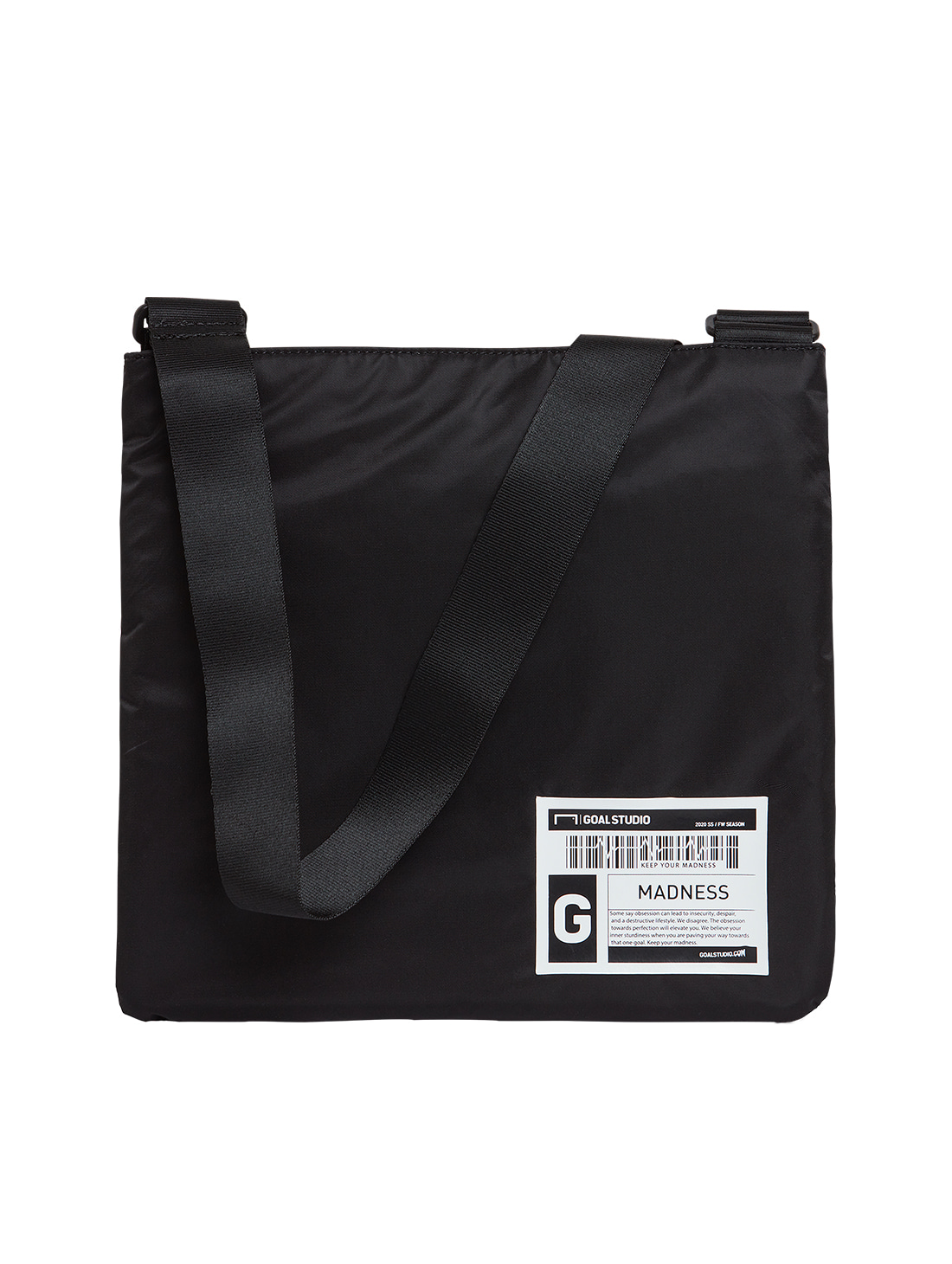 LOGO WAPPEN SACOCHE BAG - BLACK